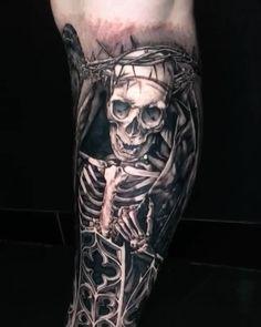 3d Tattoos, Badass Tattoos, Funny Tattoos, Cool Tattoos, Horror Tattoos, Tatoos, Australian Tattoo, Tim Burton Style, Tattoo Videos