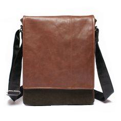 Men's leather bag  by BrandiaManufacture #leather #mens #handmade #bag #ipad #messenger #unique #craft #satchel #forhim #gift #brown #balck