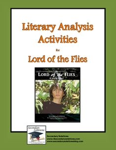 Complete set of Literary Analysis Activities for getting the most out of teaching Lord of the Flies by William Golding. $4.99