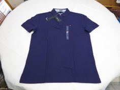 Mens Tommy Hilfiger Polo shirt L slim fit solid NEW 7845144 Parachute Purple 511 #TommyHilfiger #polo