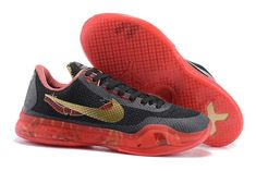 the best attitude 078a8 6b1fb The cheap Authentic Nike Kobe 10 EM XDR Gold Black Red Shoes factory store  are awesome pair of shoes but it seems the super high top design isnt for  ...