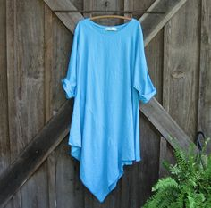 linen tunic in turquoise ready to ship by linenclothing on Etsy, $139.00