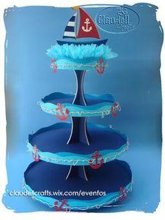 Claudell Crafts: +Fiesta Temática: Náutica+                                                                                                                                                                                 Más Sailor Birthday, Sailor Party, Sailor Theme, Mickey Birthday, Baby Birthday, Nautical Mickey, Nautical Cake, Nautical Party, Baby Shower Themes