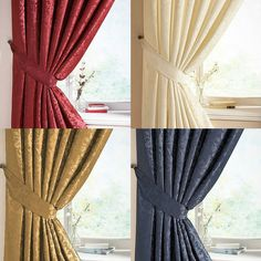 LANA 3  TAPE DAMASK FULLY LINED CURTAINS IN 4 COLOURS