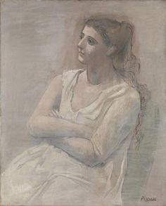 via Berfrois @berfrois  Pablo Picasso, Woman in White, 1923
