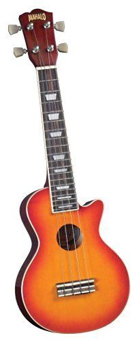 Mahalo ULP-30CH LP Style Ukulele with Gig Bag (Cherry Sunburst) by Mahalo. $39.99. The most exciting brand of ukuleles on the market today just got even better by offering several new ukuleles in two of the most iconic guitar shapes made famous throughout the 1950's and 60's. The ULP-30CH LP Style Ukulele in Cherry Sunburst, though the look of this instrument speaks of rock and roll, it still retains that traditional tone and charm of the Hawaiian Islands and the honor of being...
