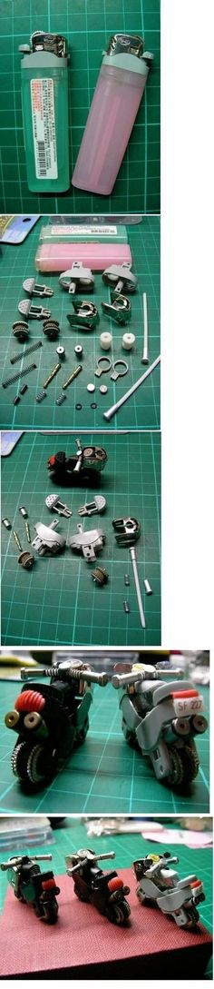 = Motorcycle made from a disposable lighter Instructions…