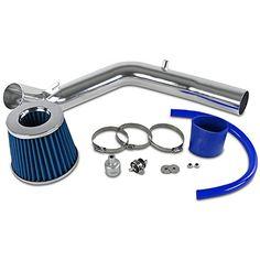 Spec-D Tuning AFC-GLF99L4BL-AY Fit VW Gold Jetta MK4 1.8T 2.0L Cold Air Intake+Blue Filter System Kit #Spec #Tuning #GLFLBL #Gold #Jetta #Cold #Intake+Blue #Filter #System