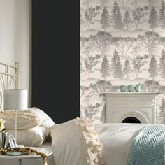 Graham & Brown offers a wide selection of Damask wallpaper and wall coverings for your home. Shop for modern design wallpaper and Damask wall coverings now. Teal Wallpaper, Geometric Wallpaper, Amazing Wallpaper, Perfect Wallpaper, Bedroom Wallpaper, Wallpaper Decor, Graham Brown, Contemporary Wallpaper, Teal And Gold