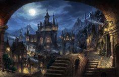 cityscape Dark Fantasy Fantasy Art Wallpaper HD Fantasy city Fantasy art landscapes Dark fantasy