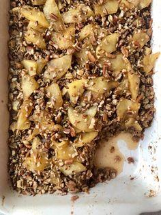 Apple Pie Baked Oatmeal Baked Oatmeal Recipes, Baked Oats, Brunch Recipes, Breakfast Recipes, Fruit Recipes, Breakfast Ideas, Yummy Recipes, Soup Recipes