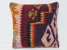 kilim pillow geographical bohemian design by DECOLICKILIMPILLOWS