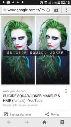 Girl Joker Costume New Suicide Squad Joker Makeup & Hair Female