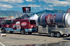 Dr Pepper Van pulling Dr Pepper TEN Special Event Trailer with ice cold product samples in Tooele, Utah. Dr Pepper Cupcakes, Diet Dr Pepper, Coke Machine, Beach Rides, Pop Ads, Ice Cream Floats, Drinks Logo, Best Ice Cream, Recipe Images