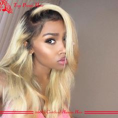 Hand Tied Ombre Wig Dark Root Ombre Full Lace Wigs Platinum Blonde Human Hair Wigs Lace Front Straight Virgin Wigs For White Women 100 Human Remy Hair Ebony Wigs From Topprettyhair, $148.75| Dhgate.Com
