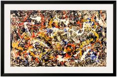 The Art Studio Convergence by Jackson Pollock (Framed)
