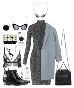 """""""Cat"""" by ritamendescosta ❤ liked on Polyvore featuring Whistles, Toga, UNIF, Muji, STELLA McCARTNEY, Jenny Packham, Agora vintage, Michael Kors and Sunday Riley"""