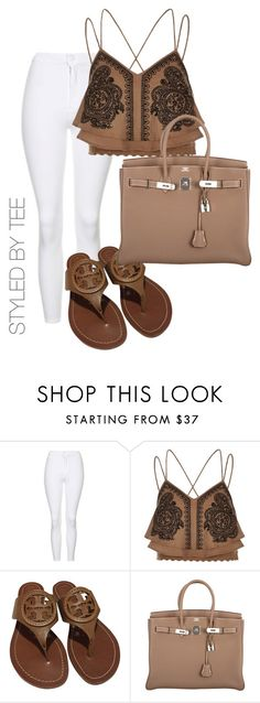 """Untitled #119"" by toniannfratianni on Polyvore featuring Topshop, River Island, Tory Burch and Hermès"