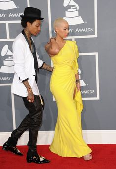 Amber Rose Wiz Khalifa Photos - Rapper Wiz Khalifa and model Amber Rose arrives at the 54th Annual GRAMMY Awards held at Staples Center on February 12, 2012 in Los Angeles, California. - The 54th Annual GRAMMY Awards - Arrivals