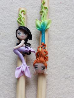 Catch hair fimo polymer clay by Artmary2 on Etsy, €7.00