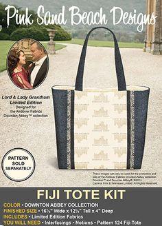 Downton Abbey Fiji Tote Fabric Kit - Pink Sand Beach Designs