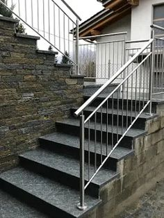 Custom made Stainless steel railing Stainless Steel Railing, Stairs, Home Decor, Stairway, Decoration Home, Stainless Steel Balustrade, Room Decor, Stainless Steel Handrail, Staircases