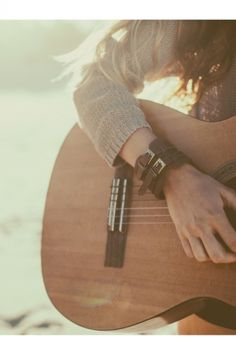 Because I want this to be me, summer bracelets and loose hair and sun and the strings singing..
