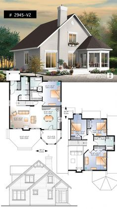 Popular Waterfront home 4 bedrooms - 3 bathrooms chalet style with open floor plans, master s. - Popular Waterfront home 4 bedrooms – 3 bathrooms chalet style with open floor plans, master suite - Sims 4 House Plans, Small House Floor Plans, Cottage Floor Plans, House Plans One Story, Craftsman House Plans, 4 Bedroom House Plans, Open House Plans, Cottage Plan, Casas The Sims 4