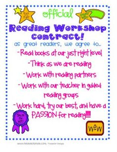 This is just one of many great things for Reading Workshop/Reading and Conferencing!