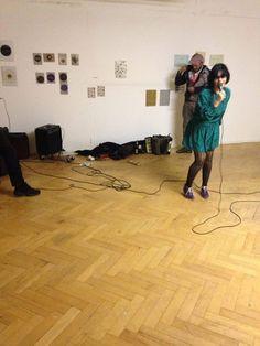 Performance by Gaby Bila Günther (aka Lady Gaby). Open Studios at FUNKHAUS Nalepastrasse.(Spring 2014) #openstudios #funkhaus #berlin #Oberschoeneweide #Oberschöneweide #schöneweide #GabyBilaGünther #LadyGaby