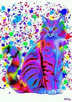 #Felino * #Rainbow * #Ilustração *