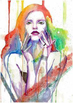 + Ilustração :   Bela combinação de cores, nos trabalhos de Veronika.