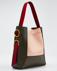 Marni Museo Colorblock Soft Shopping Tote Bag Source by Unique Handbags, Popular Handbags, Cheap Handbags, Tote Handbags, Purses And Handbags, Leather Handbags, Leather Bag, Luxury Handbags, Classic Handbags