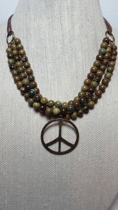Earthy Rustic Multistrand Magnesite Hippie by TheRusticCellar