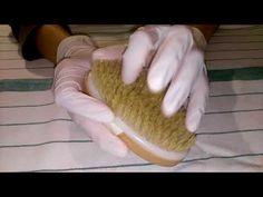 ASMR - Latex gloves - chalk brush Oil - YouTube #asmr #asmrsounds #latex #gloves #chalk #brush #oil #tapping #scratching #notalking