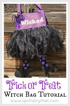 Trick or Treat Witch Bag Tutorial by I Gotta Try That... Love this!