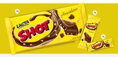 Barra de chocolate Shot Amendoim