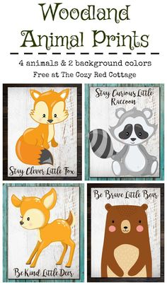 Free Woodland Animal Printables Cute Forest Animals