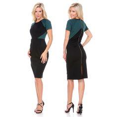 Short Sleeve Colorblock Bodycon Dress - $14.99. https://www.tanga.com/deals/882da3af430c/short-sleeve-colorblock-bodycon-dress
