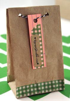 cute idea for cheap brown paper bags :)
