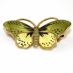 OPRO Sterling Silver Multi Color Enamel Butterfly Pin Brooch