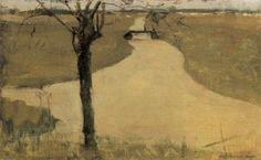 Titre de l'image : Piet Mondrian - Irrigation Ditch with Young Pollarded Willow Landscape Art, Landscape Paintings, Landscapes, Piet Mondrian Artwork, Irrigation, Outdoor Paint, Dutch Painters, Art Challenge, Artist Art