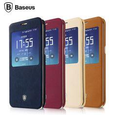 Baseus Terse Smart Sleep Window Leather Case Cover For Samsung Galaxy S7 Edge