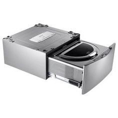 LG Sidekick 1-cu ft Graphite Steel Pedestal Washer (mini washer pedestal for small loads/intimates)