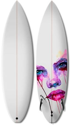 Marion Bolognesi's art on surfboards. LOVE YO SURF