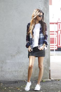 New on the blog today #BDG #plaid #flannel via #urbanoutfitters #leatherskirt #converse #rayban #wayfarers #blogger #nyblogger #fashionblog #fallstyle #fashionroll #coolstyle