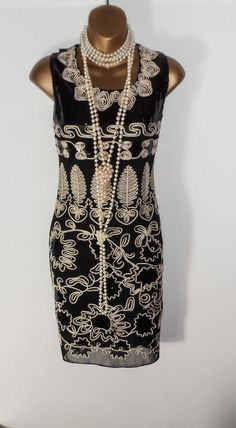 New flapper charleston the Gatsby 20s party ladies dress size UK 8 USA 4 EUR 36