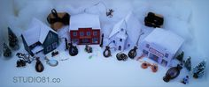 Our Christmas Village kit is being put to good use!  Check out Studio81.co Card Stock, Etsy Seller, Kit, Create, Check, Model, Christmas, Xmas, Weihnachten