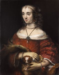 63043cff327 Portrait of a Lady with a Lap Dog Rembrandt Paintings