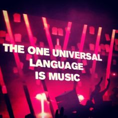 The one universal #language is #music
